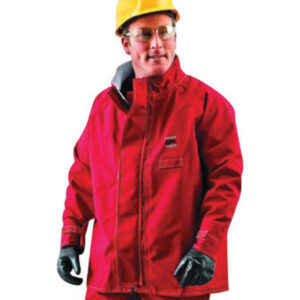 "Ansell 2X Red 30"" Sawyer-Tower™ CPC Polyester Trilaminate Gore® Fabric Chemical Splash Protection Jacket"