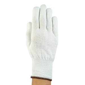 Ansell Size 8 White SafeKnit® Ultra Light Duty Spectra® And Fiber Ambidextrous Cut Resistant Gloves With Knit Wrist And Kevlar® Lined