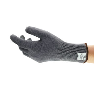 Ansell Medium Gray And White Polar Bear® PawGard® Medium Duty Cut Resistant Gloves With Extended Tuff-Cuff™ And DSM Dyneema® Lined