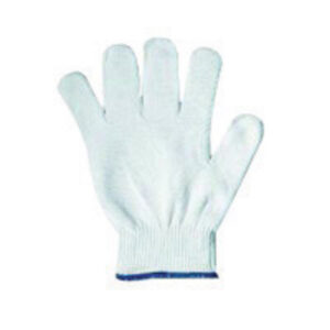 Ansell Size 7 White KleenKnit™ Light Weight Stretch Nylon Low Lint Inspection Gloves With Standard Cuff