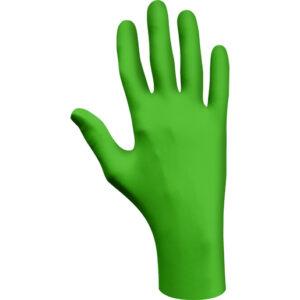 SHOWA® Medium Green Eco Best Technology® (EBT) 4 mil Latex-Free Nitrile Powder Free Biodegradable Disposable Gloves (100 Gloves Per Box)