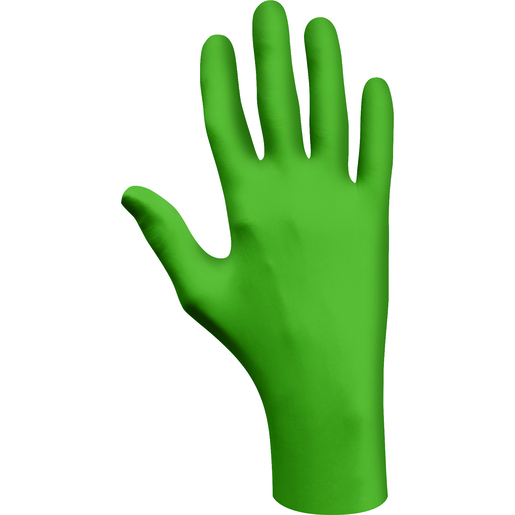 SHOWA® Small Green Eco Best Technology® (EBT) 4 mil Latex-Free Nitrile Powder Free Biodegradable Disposable Gloves (100 Gloves Per Box)