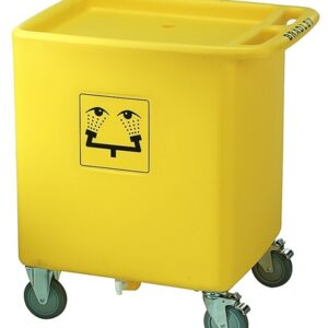 "Bradley® 33"" X 29 3/4"" X 22 1/8"" On-Site Portable Safety Waste Water Cart"