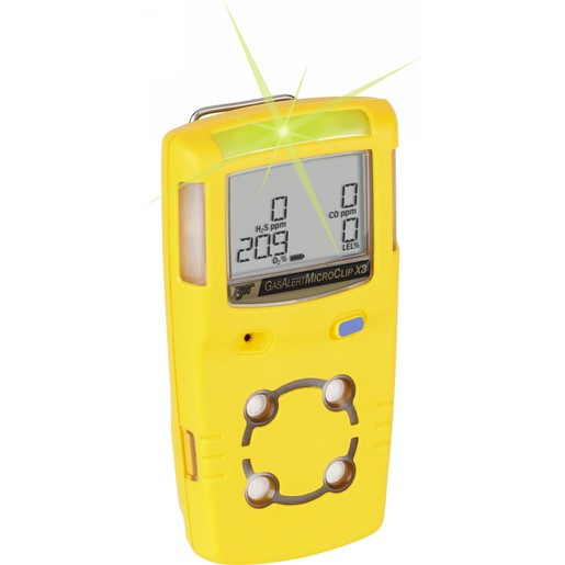 BW Technologies by Honeywell GasAlertMicroClip X3 Portable Hydrogen Sulfide And Oxygen Monitor