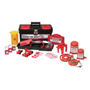 Brady® Black, Red And Yellow Personal Valve And Electrical Lockout Kit Includes (9) Lockouts, (3) Group Lockout Hasps, (3) Heavy Duty Lockout Tags, (1) Medium Lockout Toolbox And (3) Keyed Alike Safety Padlocks