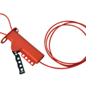 """Brady® Red 6"""" X 3 1/4"""" X 1 1/4"""" Impact Modified Glass Filled Nylon All Purpose Cable Lockout With 8' Sheathed Cable"""