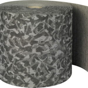 """Brady® 15"""" X 150' SPC™ BattleMat™ Gray 2-Ply Polypropylene Double Perforated Heavy Duty Camoflage Sorbent Roll, Perforated Every 12"""" And Up The Center"""