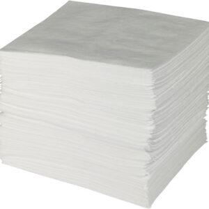 "Brady® 15"" X 19"" SPC™ ENV™ White 1-Ply Meltblown Polypropylene Economy Heavy Weight Sorbent Pad (100 Per Bale)"