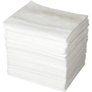 "Brady® 15"" X 19"" SPC™ ENV™ White 1-Ply Meltblown Polypropylene Economy Light Weight Double Coverage Sorbent Pad (200 Per Bale)"