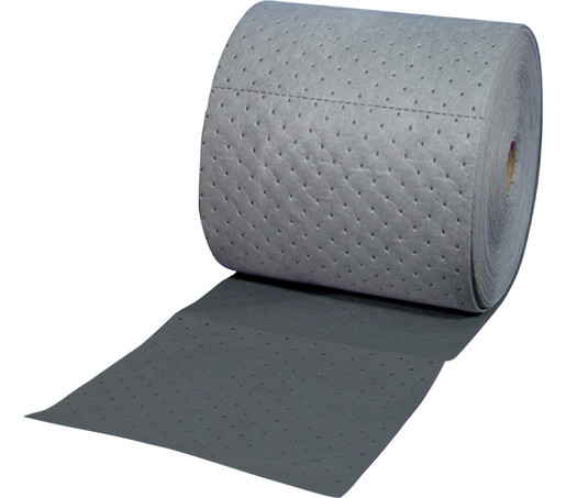 """Brady® 15"""" X 150' SPC™ Gray 2-Ply Meltblown Polypropylene Dimpled Heavy Weight High Traffic Sorbent Roll, Perforated Lengthwise Every 5"""" And Cross-Wise Every 18"""""""
