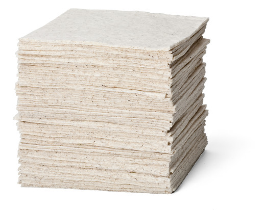 """Brady® 15"""" X 19"""" Re-Form™ White 80% Natural Cotton Fiber Heavy Weight Sorbent Pad (100 Per Case)"""