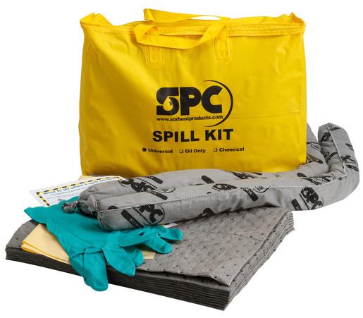 "Brady® 20"" X 16"" X 4"" Bag SPC™ Hazwik® Hi-Viz Yellow PVC Economy Portable Spill Kit"