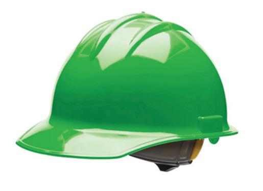 Bullard® Green HDPE Cap Style Hard Hat With 6 Point Rachet Suspension