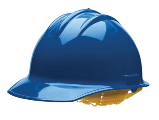 Bullard® Blue HDPE Cap Style Hard Hat With 6 Point Rachet Suspension