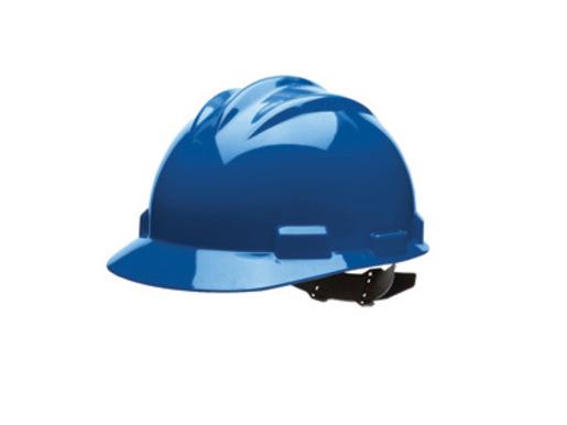 Bullard® Blue HDPE Cap Style Hard Hat With 4 Point Pinlock Suspension