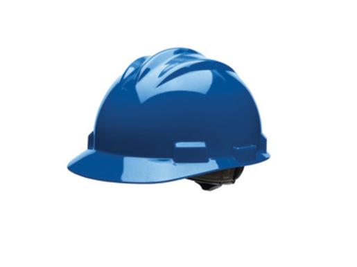 Bullard® Blue HDPE Cap Style Hard Hat With 4 Point Rachet Suspension