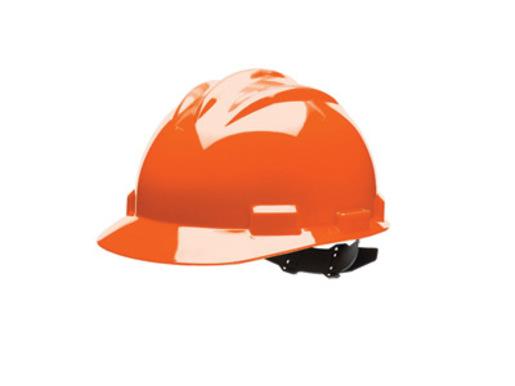Bullard® Orange HDPE Cap Style Hard Hat With 4 Point Rachet Suspension