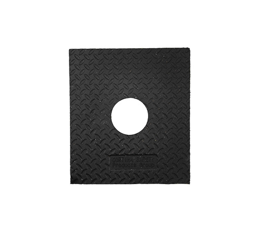 "Cortina Safety Products 15"" X 14"" X 3"" Black Recycled Rubber Delineator Base (10 lb)"