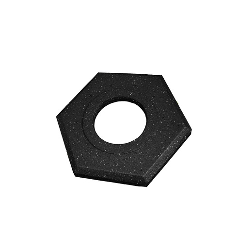 "Cortina Safety Products 15"" X 14"" X 3"" Black Recycled Rubber Trim Line Channelizer Cone Base"