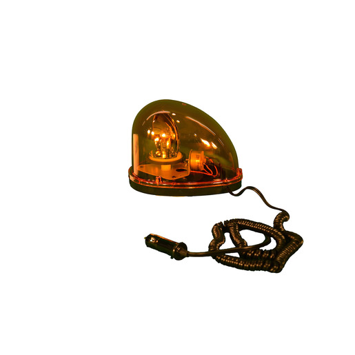 "Cortina Safety Products 8 1/8"" X 5 1/2"" X 5 3/4"" 12 V Amber Magnetic Mount Tear Drop Rotating Halogen Beacon Light With Aluminum Base/Housing, Amber Polycarbonate Lens, 10' Coil Cord And Eye Shield"
