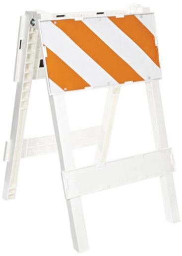 "Cortina Safety Products Group 24"" X 12"" Orange And White Plastxx Type 1 Traffice Barricade With Engineer Grade Sheeting"