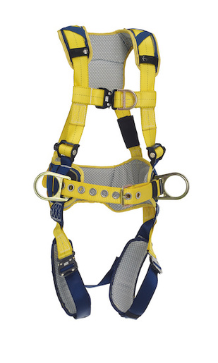 DBI/SALA® Medium Delta™ Full-Body Harness With Back, Front And Side D-Rings, Padded Belt And Quick Connect Buckle Leg And Chest Straps