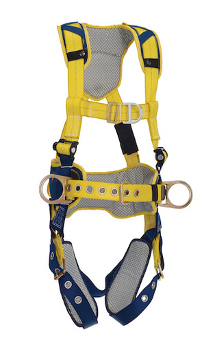 DBI/SALA® Large Delta™ Full-Body Harness With Back, Front And Side D-Rings, Padded Belt And Tongue Buckle Leg Straps