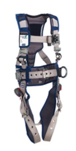 DBI-SALA® Medium ExoFit STRATA™ Construction Style Harness With Aluminum Back And Side D-Rings, Tongue Buckle Leg Straps, Waist Pad And Belt