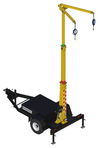DBI-SALA®  FlexiGuard™ Trailer Mount System With 10 Ft.  21.5 Ft. (3.0M  6.6M) Adjustable Anchor Height And 4.5 Ft. (1.4M) Anchor Offset