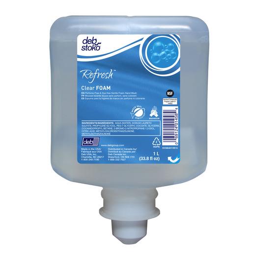 Deb Group 1 Liter Refill Clear Refresh™ Foam Soap (3 Per Case)