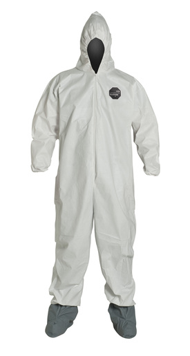 DuPont™ 2X White Safespec™ 2.0 ProShield® NexGen® Disposable Coveralls With Front Zipper Closure