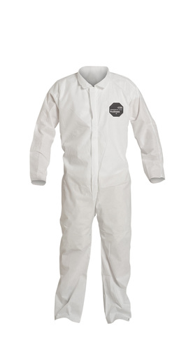 DuPont™ 3X White SafeSPEC™ 2.0 ProShield® Basic Disposable Chemical Protection Coveralls With Front Zipper Closure
