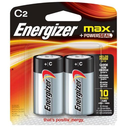 Energizer® Eveready® MAX® 1.5 Volt C Alkaline Battery With Flat Contact Terminal (2 Per Card)