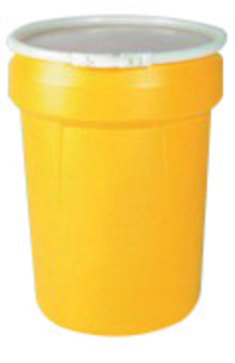 Eagle 30 Gallon Yellow HDPE Open Head Containment Labpack With Plastic Lever-Lock Ring