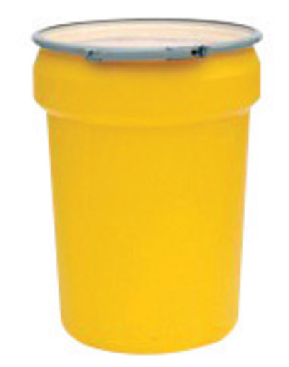 Eagle 30 Gallon Yellow HDPE Open Head Containment Labpack With Metal Lever-Lock Ring