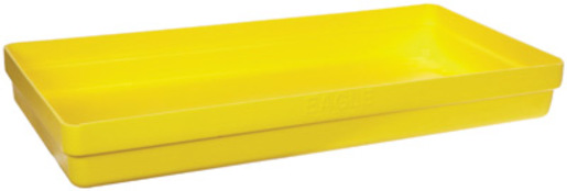 """Eagle 26 1/4"""" X 51 1/2"""" X 6 1/2"""" Yellow HDPE 2-Drum Modular Spill Containment Budget Basin With 34 Gallon Spill Capacity Without Drain"""