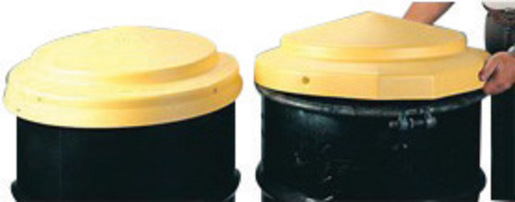 """Eagle 23"""" X 5"""" Yellow HDPE Closed Head Drum Cover"""