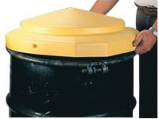 """Eagle 24"""" X 5"""" Yellow HDPE Open Head Drum Cover"""