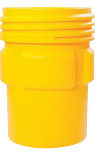 """Eagle 31"""" Top Dia X 26 1/16"""" Bottom Dia X 41 1/4"""" Haz-Mat Yellow HDPE Containment Overpack Drum With 95 Gallon Spill Capacity And Screw On Lid Closure"""