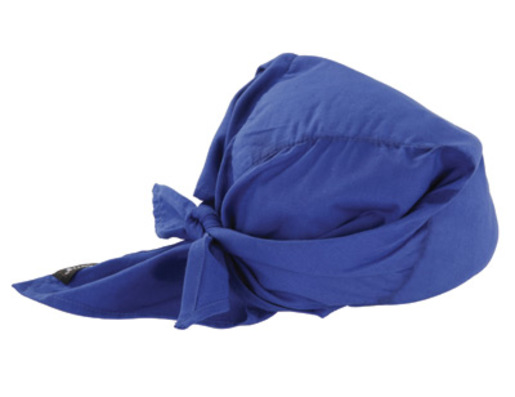 Ergodyne Blue Western Chill-Its® 6710CT Advanced PVA Evaporative Cooling Triangle Hat With Tie Closure And Towel