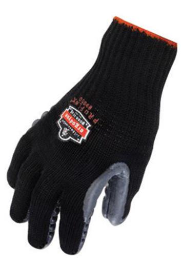 Ergodyne Large Black ProFlex® Rubber Full Finger Anti-Vibration Gloves With Elastic Cuff