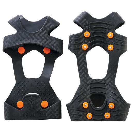 Ergodyne Large TREX™ 6300 Black Stretchable Rubber One Piece Ice Traction Device With Carbon Steel Studs For Boots And Shoes Size 8 To 11