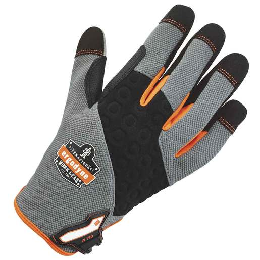 Ergodyne Size 2X Hi-Viz ProFlex® Neoprene And Armortex® And Tena-Grip™ Full Finger Anti-Vibration Gloves With Hook And Loop Cuff