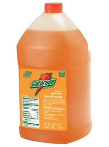 Gatorade® 1 Gallon Liquid Concentrate Bottle Orange Electrolyte Drink - Yields 6 Gallons (4 Each Per Case)