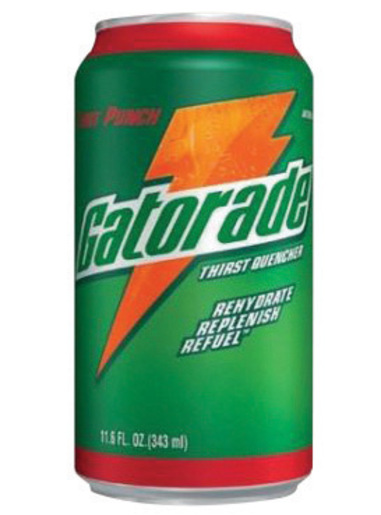 Gatorade® 11.6 Ounce Ready To Drink Can Fruit Punch Electrolyte Drink (24 Cans Per Case)
