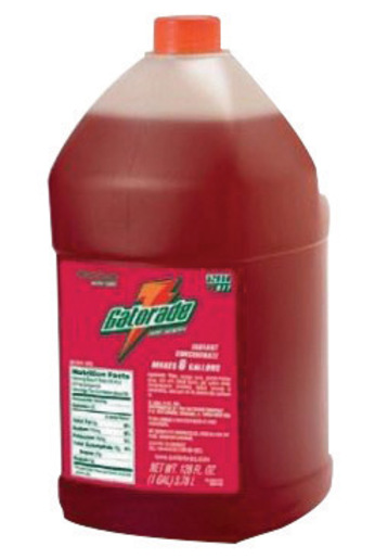 Gatorade® 1 Gallon Liquid Concentrate Bottle Fruit Punch Electrolyte Drink - Yields 6 Gallons (4 Each Per Case)