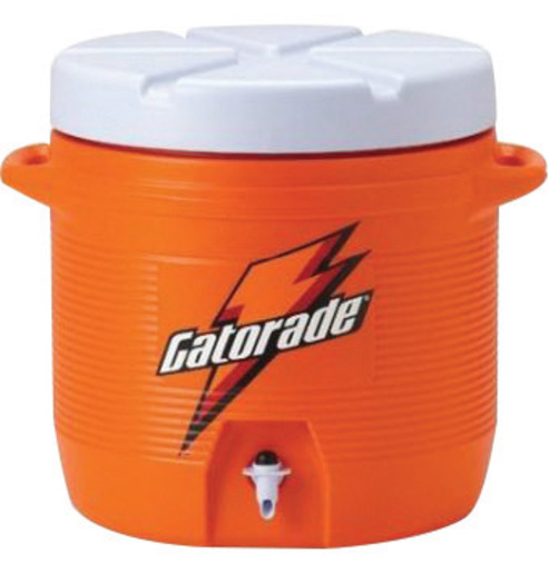 Gatorade® 7 Gallon Orange And White Dispenser Cooler With Fast Flow Faucet And Handles