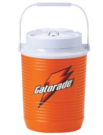 Gatorade® 3 Gallon Orange And White Dispenser Cooler With Fast Flow Faucet And Handles