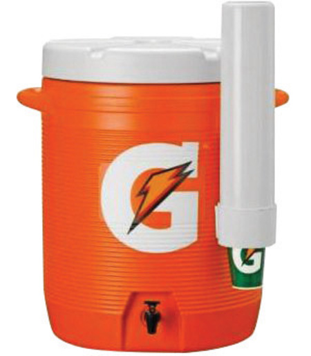 Gatorade® 10 Gallon Orange And White Dispenser Cooler With Fast Flow Faucet And Handles