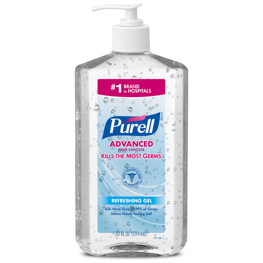 GOJO® 20 Fluid-Ounce Pump Bottle Clear Purell® Citrus Scented Advanced Instant Hand Sanitizer
